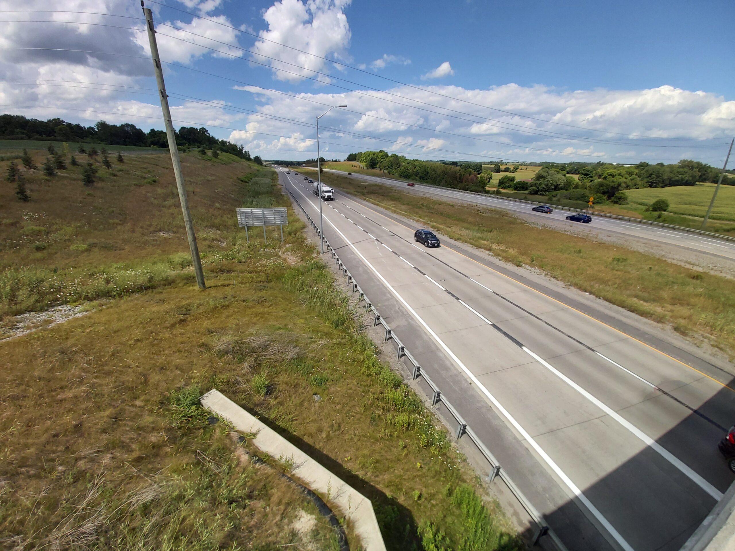 Highway 400 North from the Queensville sideroad bridge.