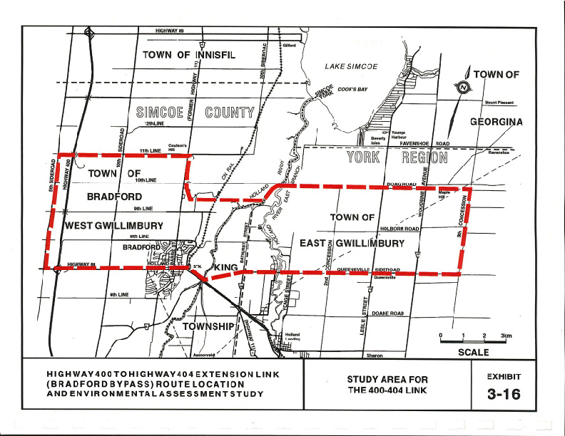 2002 Environmental Assessment Study Area Map, Exhibit 3.16