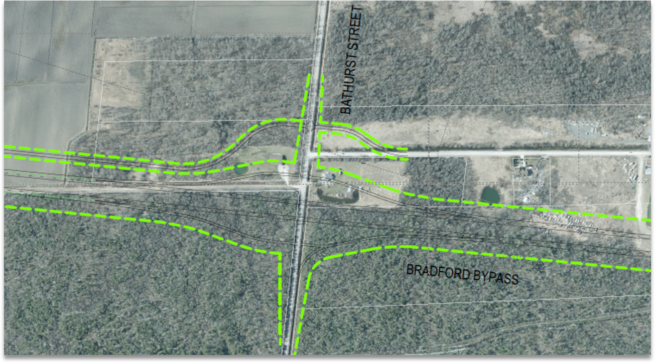 Bathurst Street Interchange Base Case Map