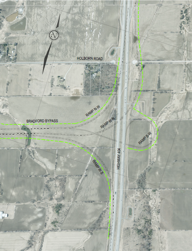 Highway 404 Interchange Base Case from 2002 Approved Environmental Assessment