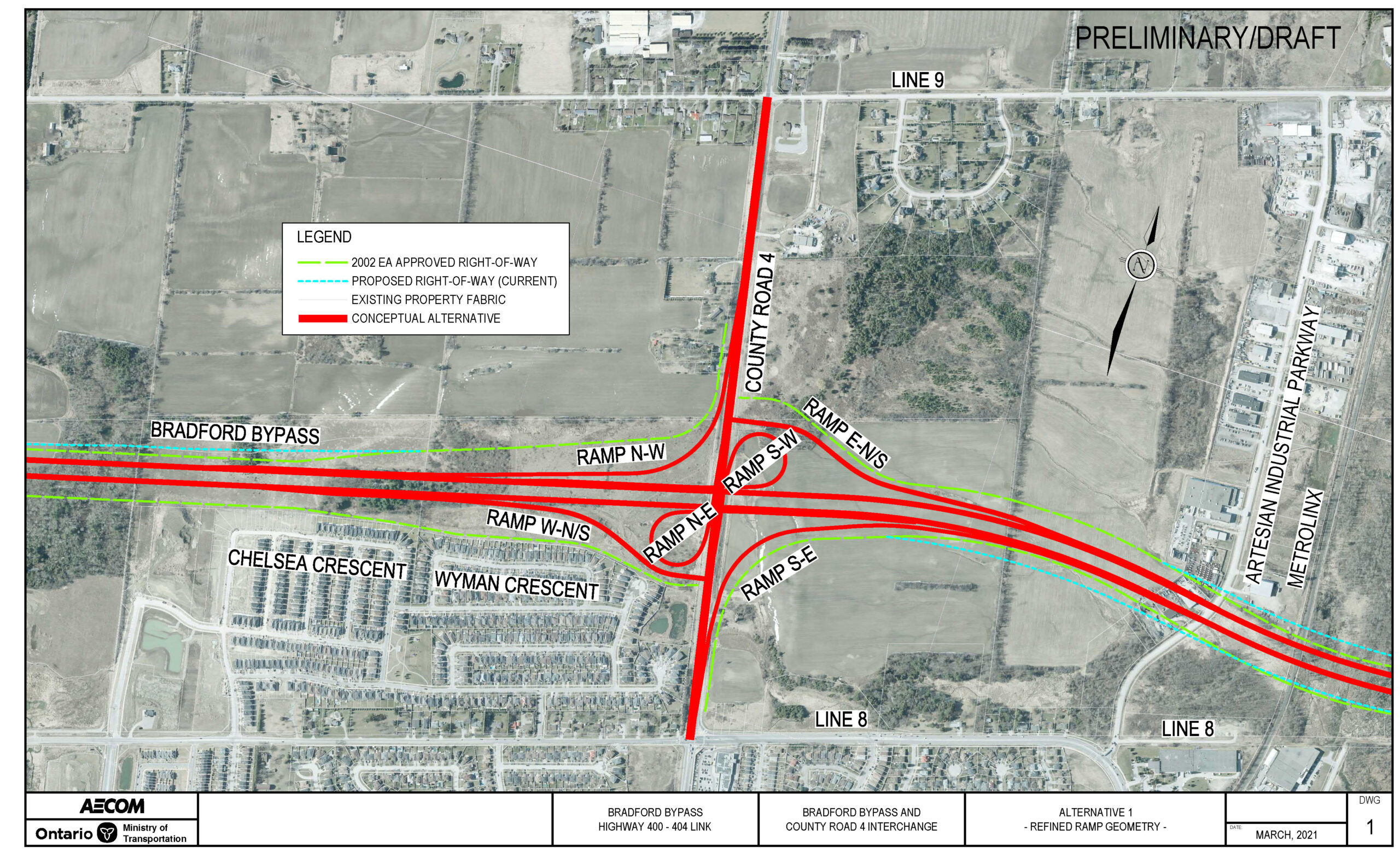 County Road 4 Interchange Base Case (Parclo A4) from 2002 Approved Environmental Assessment